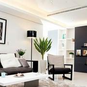 淡雅简约型沙发背景墙图片展示