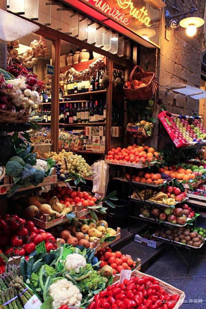 国外水果店装修效果图
