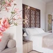 卧室粉色花束
