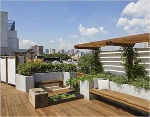 私人屋顶花园效果图