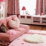 整体粉色客厅设计