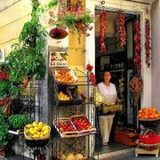 外国街头水果店