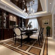 中式客厅木质架子设计