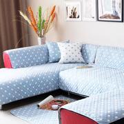 蓝色波点沙发
