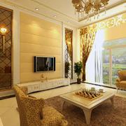 欧式客厅液晶电视背景墙