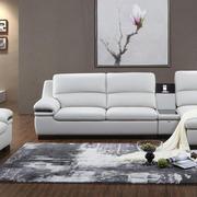 顾家白色漆皮沙发