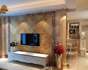 欧式大理石电视墙