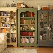 美式复古书柜造型