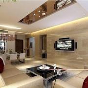 客厅大理石简约型墙面设计