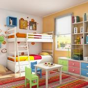 多彩浪漫式儿童床