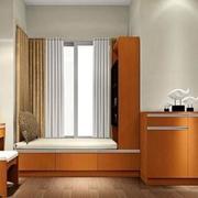 欧式亮色卧室飘窗设计