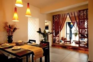 东南亚餐厅桌面设计
