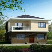 简约型欧式两层小别墅外观效果图
