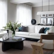 欧式客厅白色布艺沙发图集