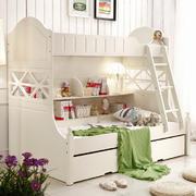 白色双人儿童床