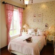 16平米粉色卧室田园风