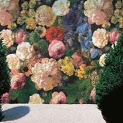 花卉图案背景墙