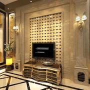 金色大理石墙面