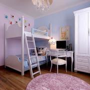 紫色小型儿童床展示效果