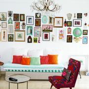 烂漫型欧式沙发照片背景墙