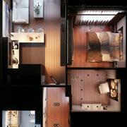 棕色系公寓设计