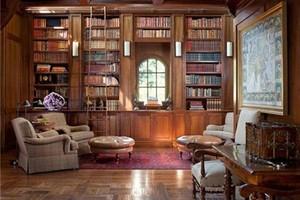 欧式书房大型书柜设计