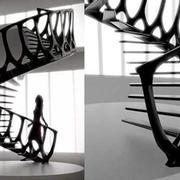 铁艺旋转楼梯造型图