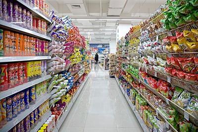 大型超市货架图