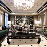 美式客厅大理石墙面装饰