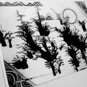 黑白墨色装饰画