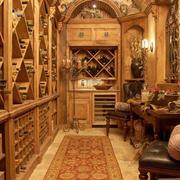 欧式古典抒情式酒柜设计