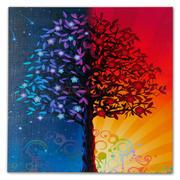 彩色夸张型抽象装饰画