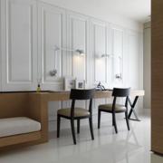 欧式客厅简约式木椅设计