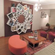创意型多边书柜造型图