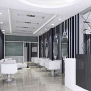 100平米超大型欧式美发店设计
