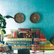 东南亚之蓝色背景墙
