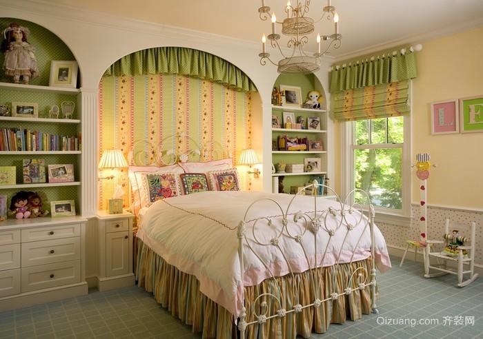 田园风格女生卧室效果图