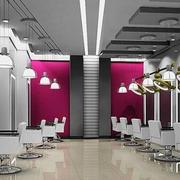 钢质感美发店设计