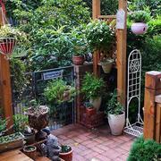 清新阳台花园设计