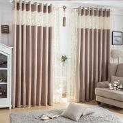 纯色系深棕窗帘设计