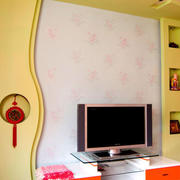 欧式现代化白色壁纸设计