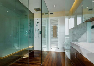 卫生间玻璃隔断门效果图大全