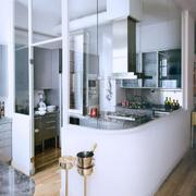 现代化厨房整体吧台设计