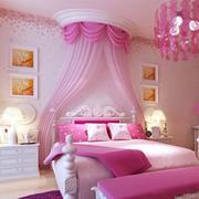 粉色卧室帷幔设计