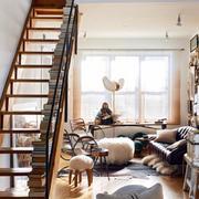 复式楼豪华现代型沙发背景墙设计