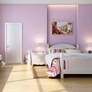 紫色卧室简约型木质门设计