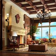 欧式复古客厅设计