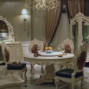 欧式白色典雅型餐桌设计