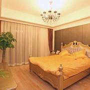 欧式暖色系卧室家装