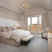 50㎡白色精简系列卧室设计